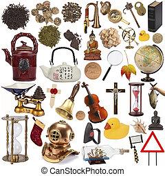 objets, pour, coupé, -, isolé