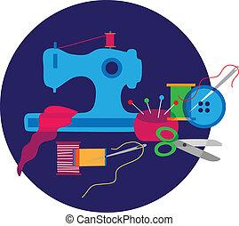 objets, tailleur, ensemble, équipement