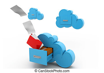 obliczanie, backup, chmura, online