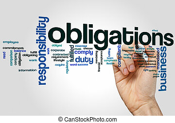 Obligations word cloud