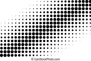 obliquo, punti, diagonale, modello, cerchi, fondo, halftone, vettore, illustration.