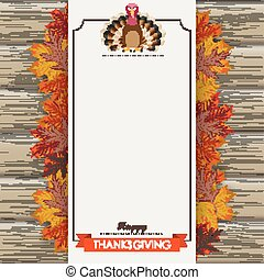 Oblong Banner Wood Thanksgiving Turkey Foliage - Oblong...