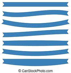 oblong, plat, ensemble, shapes., vector., bannière