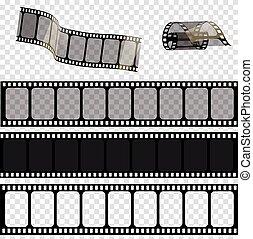 obnaża, eps., ilustracja, film wystawiają, .vector, wektor, 10