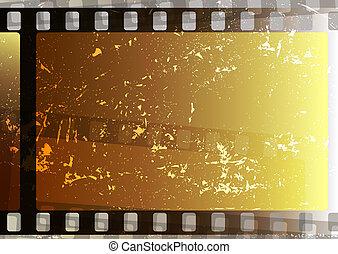 obnaża, grunge, film, (vector)