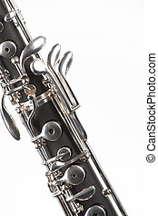 Oboe Isolated On White - An oboe woodwind instrument...