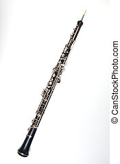 Oboe on White - An oboe isolated against a white background.