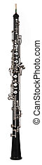 oboe on white background - oboe shot on white background