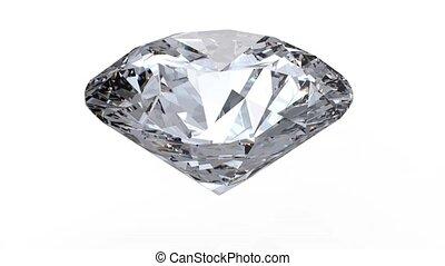 obracający, diament
