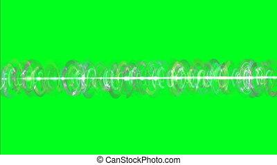obracający, energia, promienie, zielony, ekran