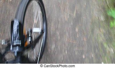 obracający, koło, od, rower