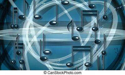 obracający, notatki, muzyka