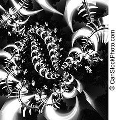 obraz, abstrakcyjny, czarnoskóry, biały