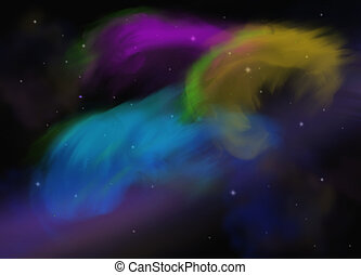 obraz, abstrakcyjny, przestrzeń, galaktyka, kaprys