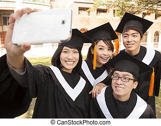 obraz, grupa, wpływy, absolwenci, komórka głoska