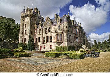 obraz, zamek, belfast, ireland., północny