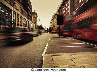 obraz, zdumiewający, handel, przedstawiając, miejski
