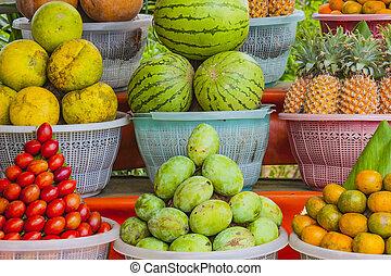 obrazný, display., ovoce