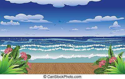 Dreveny Plaz Molo More
