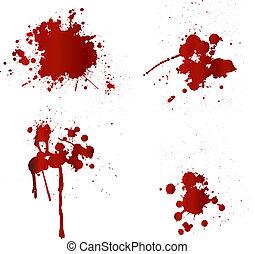obryzguje, krew