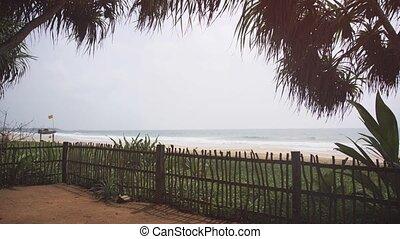 obrzucenie niebo, tropikalny, hikkaduwa, raj, poniżej, plaża