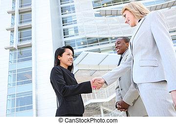 obsadzać kobietę, handlowy zaprzęg