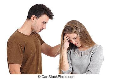 obsadzać kobietę, utulając, odizolowany