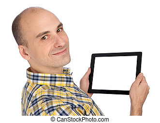obsadzać komputer, dzierżawa, tabliczka, czysty