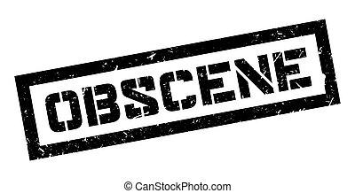 Obscene rubber stamp