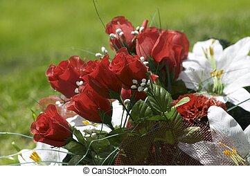 obseque, fleurs