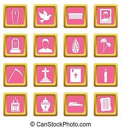 obseque, icônes, rose