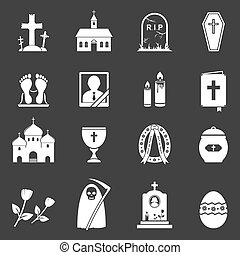 obseque, vecteur, icônes