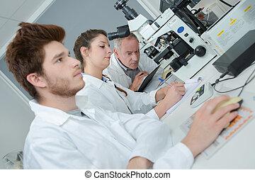 observación, laboratorio