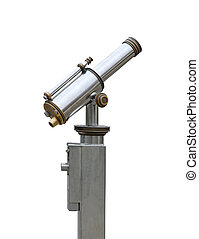 Observation binoculars isolated - Tourist observation...