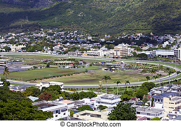 Port-Louis- capital of Mauritius - Observation deck in the ...