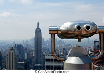 Observation deck of Rockefeller center in NYC