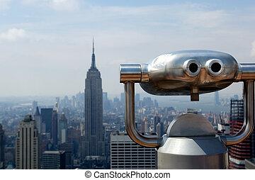 Observation deck of Rockefeller center in NYC