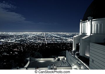 Observation Deck at Griffith Observatory, Los Angeles,...