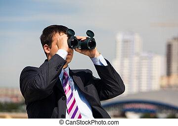 Observation - Portrait of handsome businessman with...
