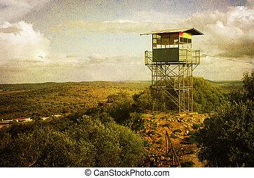 Observation Tower - vintage style image of observation tower...