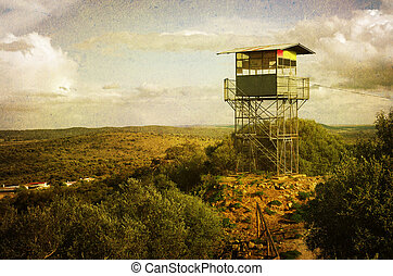 Observation Tower - vintage style image of observation tower...