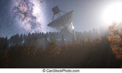 observatoire, astronomique, sous, ciel, étoiles, nuit