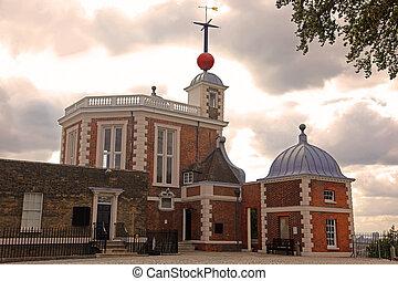 observatorio, real, greenwich, inglaterra, reino unido