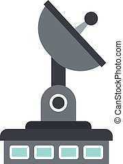 Observatory icon, flat style - Observatory icon isolated on ...