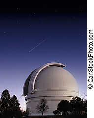 Observatory - Mt. Palomar astronomical observatory at dusk...