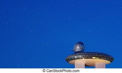 Observatory, night timelapse