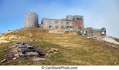 Observatory ruins Pip Ivan on top of mount Pip Ivan