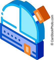 Observatory Telescope isometric icon vector illustration - ...