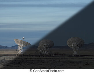 Observatory twilight transition - Very Large Array Radio...