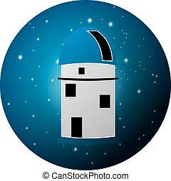 Observatory - Vector illustration of observatory planetarium...